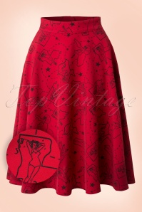 Rock Steady Clothing Pinup State Red Swing Skirt 122 27 17052 20151210 0007W2