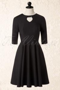 50s Diamond Swing Dress in Black