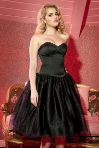 Pinup Couture 50s Laura Byrnes California Bernadette Dress in Black