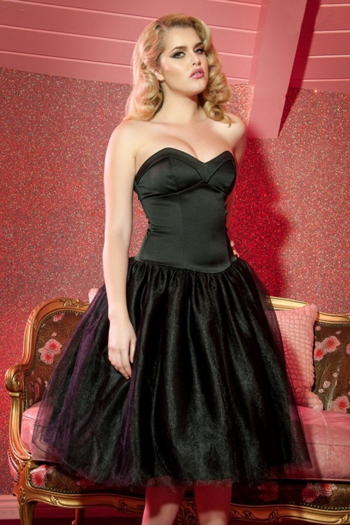 Pinup Couture Black Party Dress 102 10 17693 12162015 model05