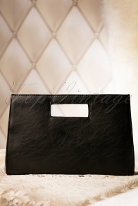Lara Black Clutch