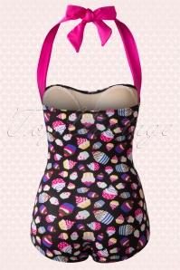 Girlhowdy Black Cupcake Bathing Suit 161 14 16939 20151217 0002W