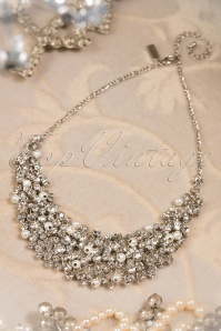 20s Julie Diamonds and Pearls Necklace