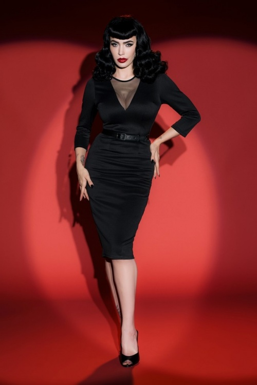 Pinup Couture  Misfits Pencil Dress by Deadly Dames 100 10 17744 6