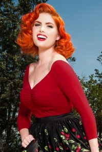 Pinup Couture  Jailbird Red Top 113 20 16870 1V