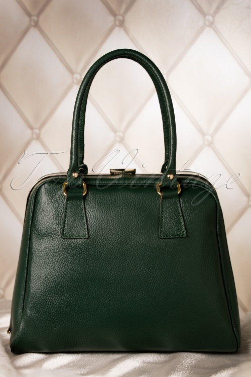 Vava Vintage 60s Chic Suitcase Handbag in Green genuine leather 212 40 10013 20151216 0008W
