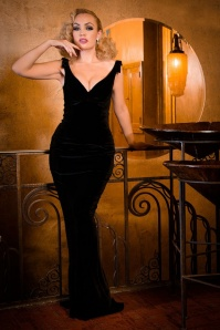 Pinup Couture Gilda Black Velvet Gown 108 10 17242 1