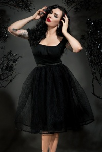 Pinup Couture Black Mesh Lillith Skirt 122 10 16873 2