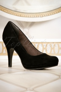 Tamaris 50s Classy Shoes in Black 400 10 11544 01052016 008W