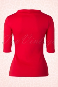 Heart of Haute Red Turtle neck Super Spy Top 113 20 17028 20160105 0002W
