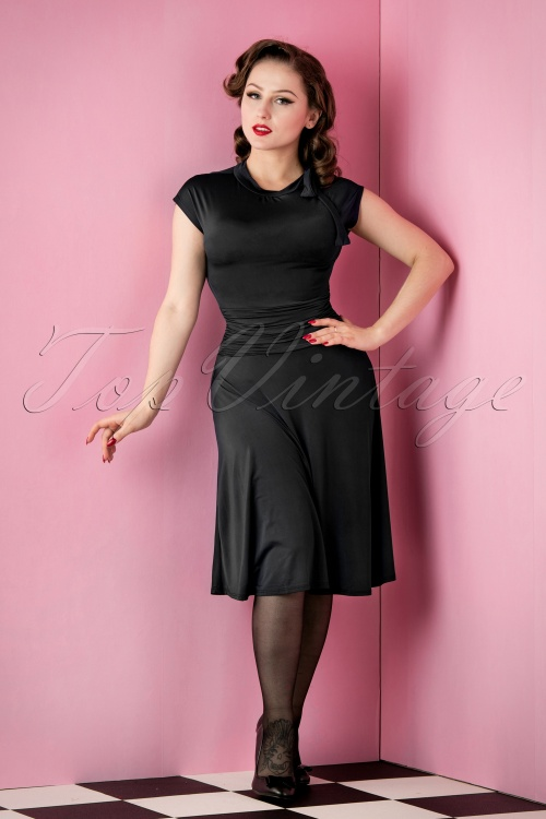 69f7066bb9fd6f Retrolicious Bridget Bombshell Dress Black 10515 20151118 010AW