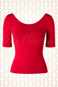 50s Ballerina Top in Red