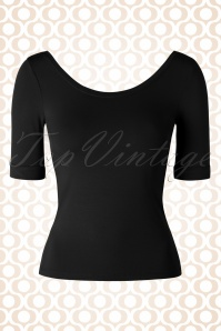 50s Ballerina Top in Black