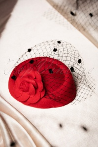 Collectif Clothing Jemima Hat in Red 202 20 16224 01142016 012W