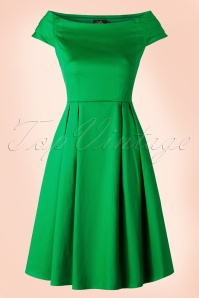 50s Marcia Dress in Green