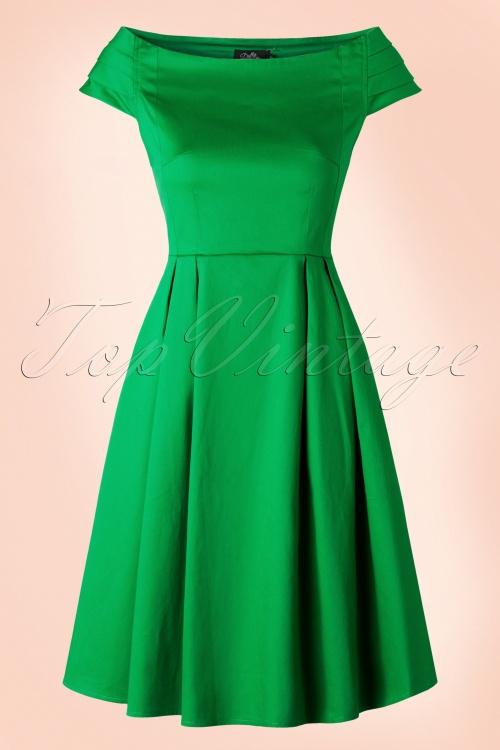 Dolly Do Marcia Green Boatneck Dress 102 40 17222 20160111 0009W