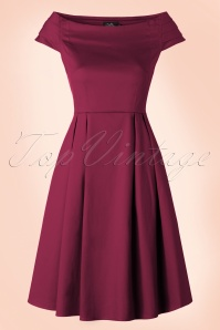 50s Marcia Dress in Wine