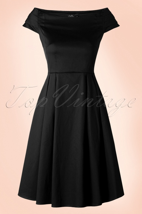 Dolly Do Marcia Black Boatneck Dress 102 10 17221 20160111 0011W