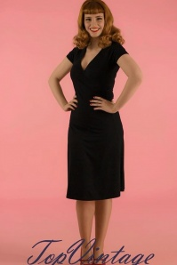 50s Cross Dress in Black