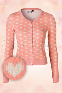 40s Amber Hearts Cardigan in Pink