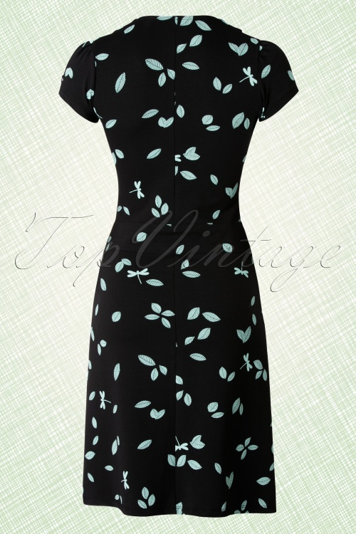 60s dragonfly dress in black