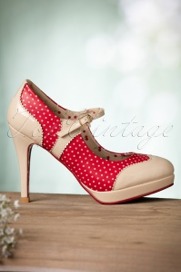 Banned Mary Jane Pump Red Nude 402 27 17747 01192016 024W