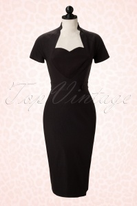 Pinup Couture Veronica Dress in Black Heart 10853pop