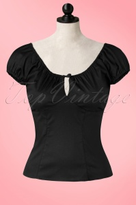 50s Melissa Top in Black