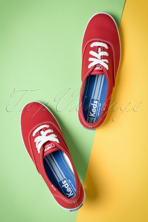 50s Champion Core Text Sneakers in Red