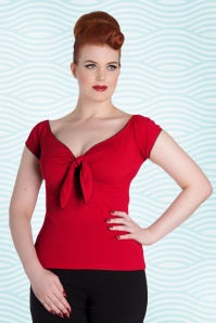 Bunny Red Bow Bardot Sailor Top 111 20 18127 1