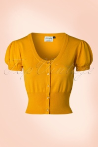 40s Grace Cardigan in Yellow