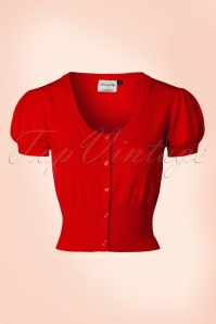 40s Grace Cardigan in Red