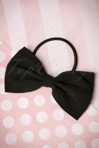 Lovestruck Bow Hair Band Années 50 en Noir