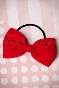 Lovestruck Bow Hair Band Années 50 en Rouge