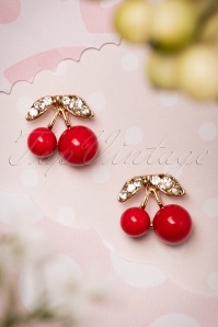 50s Red Cherry Earrings
