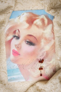 From Paris with Love! Tasty Cherry earrings 334 20 10196 20151214 068W