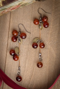 Tasty Cherry Brass earrings
