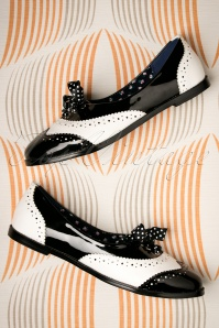 Banned Retro 60s Milana Brogues in Black and White
