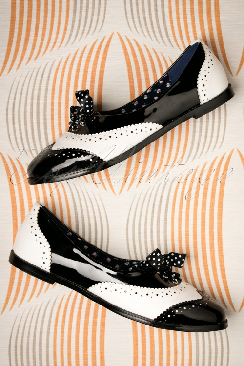 Dancing Days by Banned Milana Shoes in Black and White 452 10 17760 01262016 029W