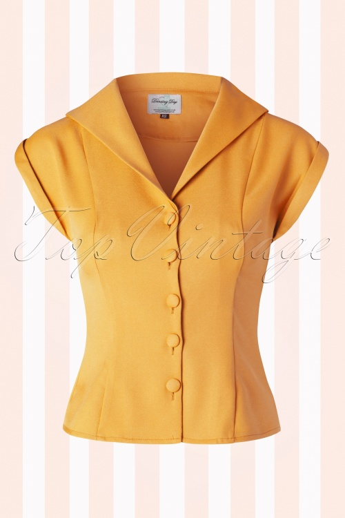Banned Misty Mustard Dream Blouse 112 80 17848 01022016 001W