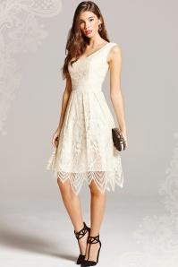 Little Mistress Cream Lace Dress 102 51 18155 20160127 00013