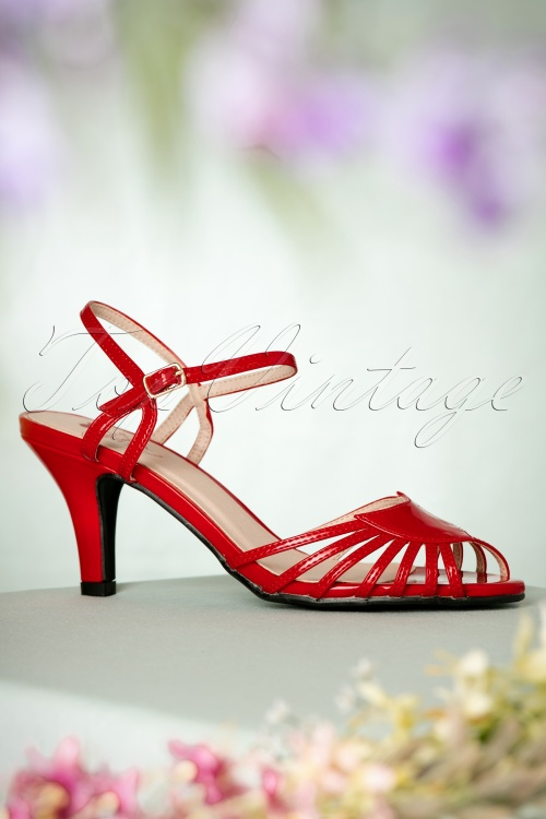 Dancing Days by Banned Amelia Sandals in Red 420 20 17758 01272016 022W