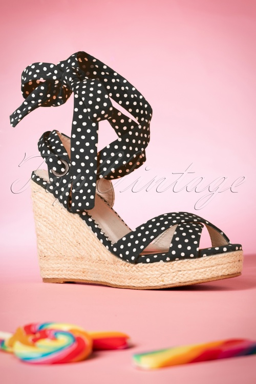 Dancing Days by Banned Popple Ankle Sandals in Black 420 14 17770 01272016 022W