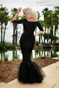 Monica Mermaid Dress Black Pinup Couture 108 10 17840 4