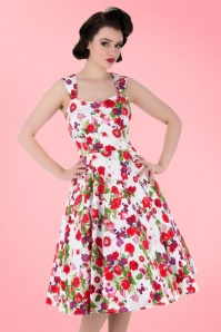 White Floral Swing Dress Hearts & Roses 102 59 17131 1