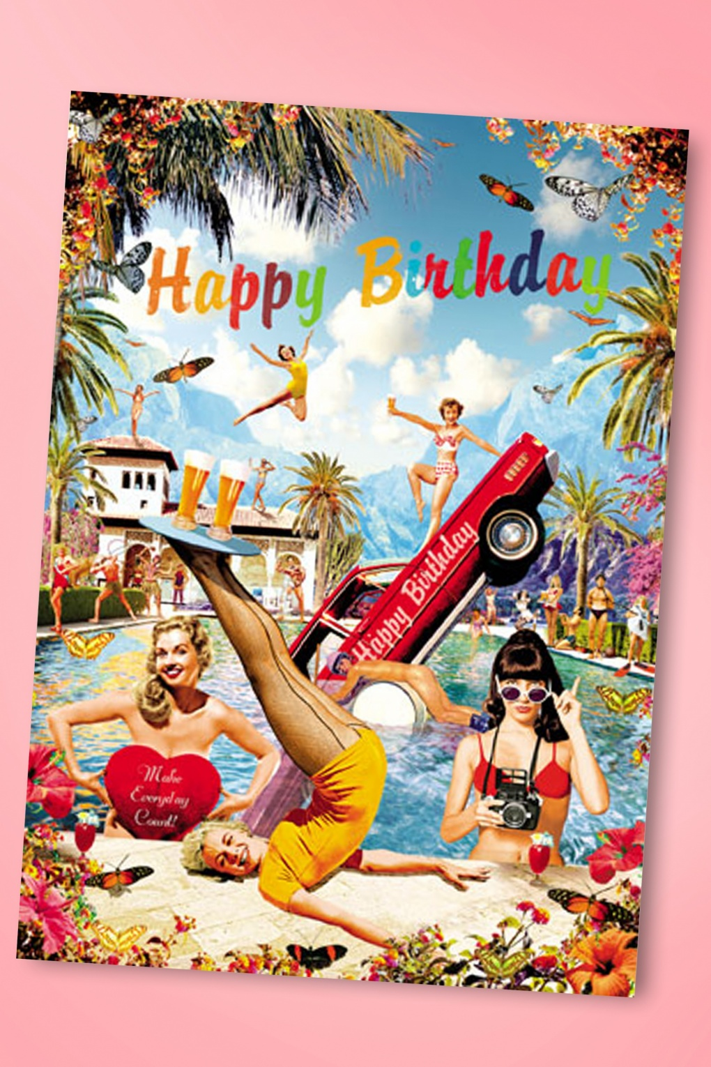 50s Retro Fun Happy Birthday Greeting Card