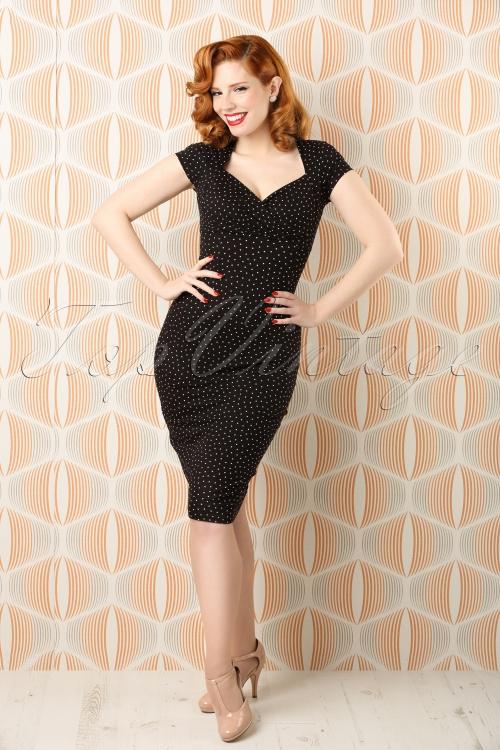 King Louie Perry Little Dots Dress Black 13791 bewerkt