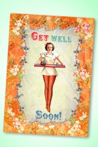 50s Nurse Get Well Soon Greeting Card