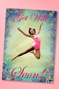 50s Get Well Soon Greeting Card