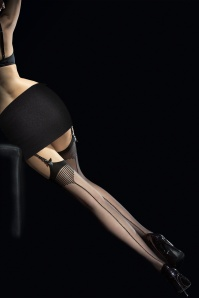 Fiorella Tempesta Seamed Stockings en Noir